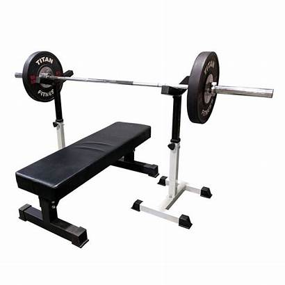Bench Press Spotter Stands Titan Fitness Zoom