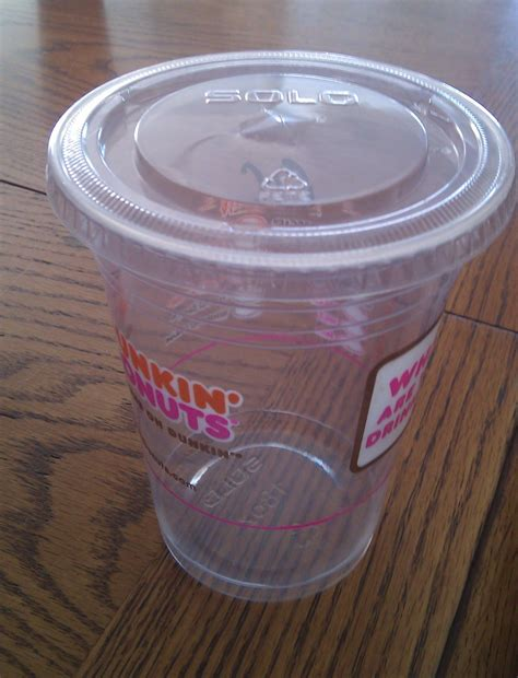 Our supply chain team regularly communicates with suppliers about potential packaging updates. Dunkin' Donuts Solo Cups - If you drink iced coffee or coolata's at DD - collect their plastic ...