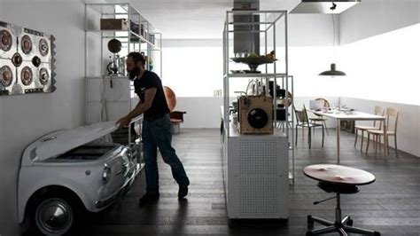 unique modern kitchen appliances  retro style fridge