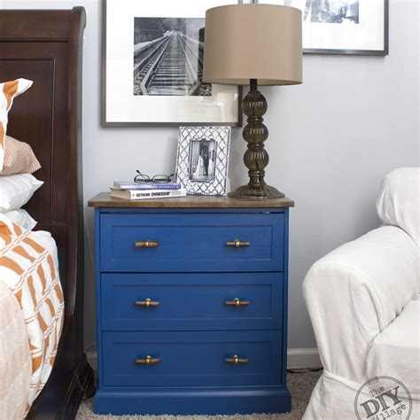 Ikea Nightstand Makeover from dresser to nightstand ikea rast makeover the diy