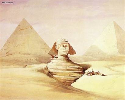 Sphinx Roberts David Drawing Painting Wallpapers Egypt