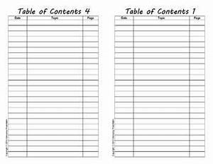 Empty Table Of Contents Template | www.pixshark.com ...