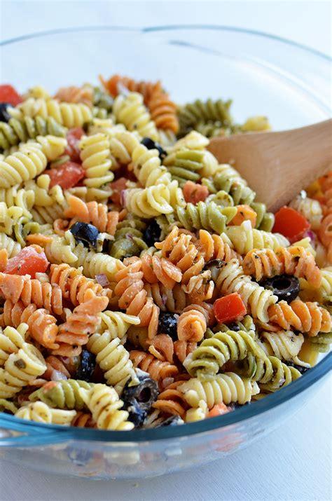 tri color pasta tri color pasta salad