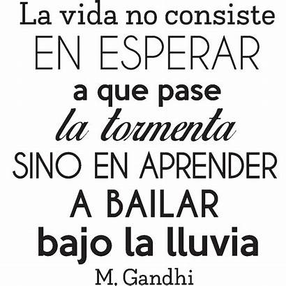 Citation Gandhi Vida Consiste Sticker Espagnole Citations