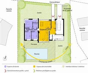 plan maison contemporaine de plain pied avec 3 chambres With plan maison plain pied 3 chambre garage