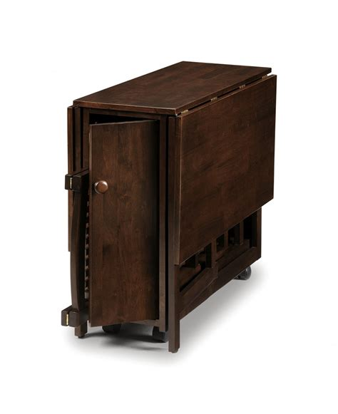 storage for folding chairs and tables dark brown painted color rectangular double drop leaf