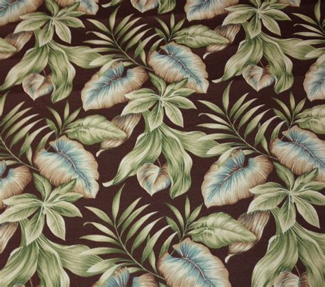 Upholstery Fabric For Outdoor Furniture by Richloom Lakefront Woodland Leaf Tropical Outdoor
