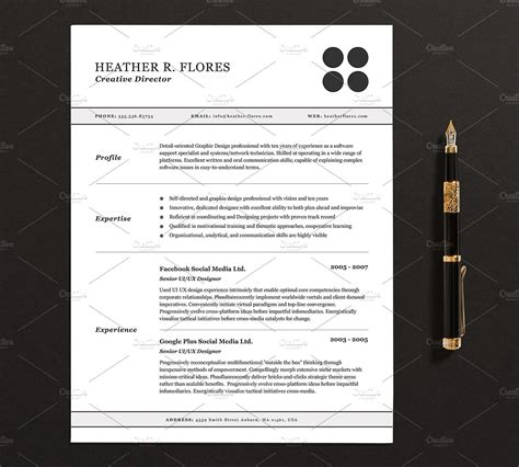 Pages Cv Template by Curriculum Vitae 3 Pages Modelo De Curriculum Vitae