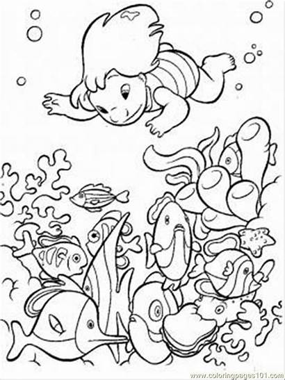 Coloring Ocean Pages Printable Disney Stitch Sheets