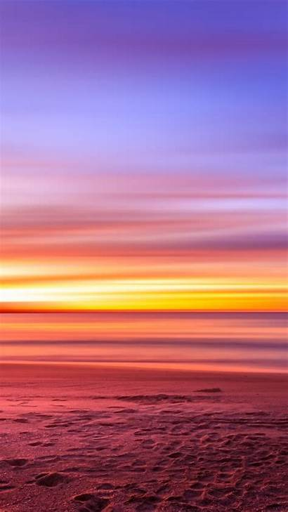 Purple Sky Sunset Sand Footprints Wallpapers Pixel