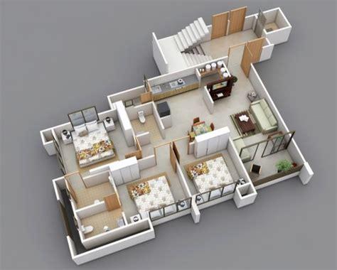 25 three bedroom house apartment floor plans home