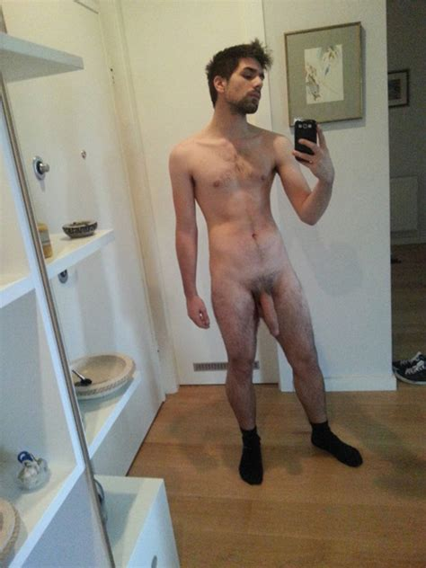 Bearded Guy Shows His Thick Soft Dick Nude Man Cocks