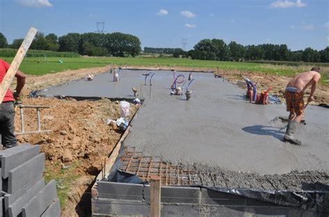plan de travaille pour cuisine dalle béton est coulée construire maisons d 39 en flandre
