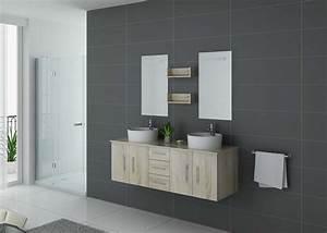 Meuble Vasque Double : meuble de salle de bain double vasque bois scandinave meuble double vasque en bois dis747 ~ Teatrodelosmanantiales.com Idées de Décoration