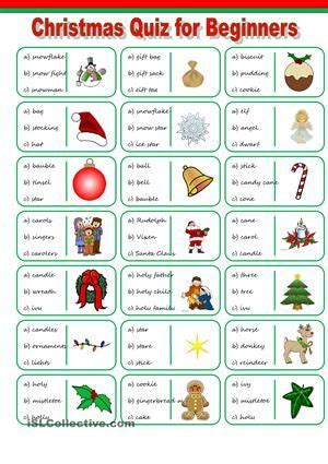 esl christmas vocabulary worksheets  mas games