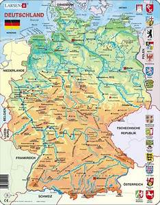 Deutschland Physische Karte : larsen deutschlandkarte physisch ~ Watch28wear.com Haus und Dekorationen