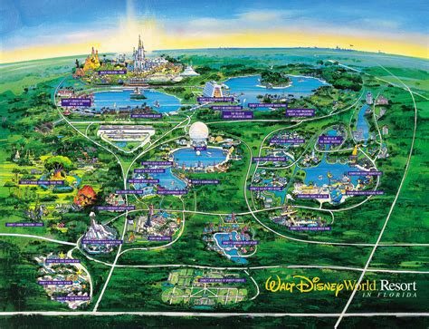 disney world map orlando mappery