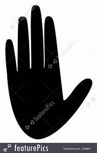 Woman Hand Silhouette Vector Stock Illustration I4328871 ...