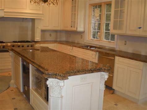 giallo vicenza granite traditional kitchen new york