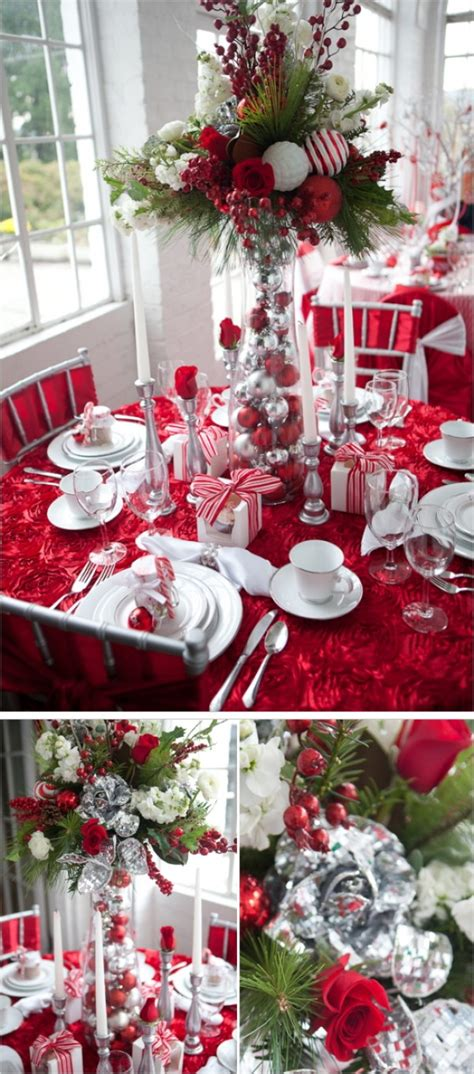 festive christmas table decoration ideas  tutorials
