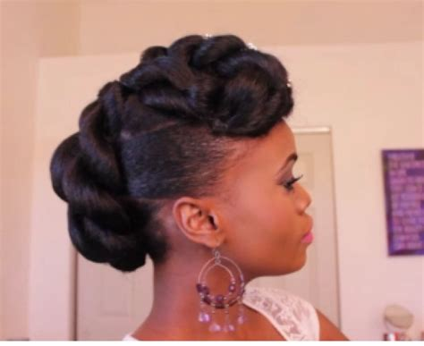 Bridal Faux Updo With Braidng Hair On Ethnic Hair