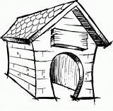 Coloring Dessin Niche Dog Chien Dans Une Popular Caseta Perro Edificios Arquitectura sketch template