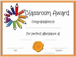 Perfect Attendance Certificate Template Certificate Template For Kids Perfect Attendance Award Certificates Certificates Pinterest