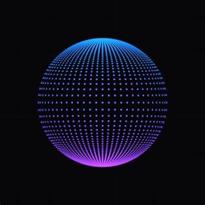 Fractal Circle 3d Hologram Round Animation Geometric