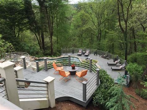 two level backyard landscaping ideas 45 backyard deck ideas beautiful pictures of designs