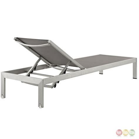chaises aluminium shore outdoor patio aluminum chaise with breathable mesh