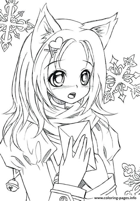 cute mermaid coloring pages awesome stock  cute anime