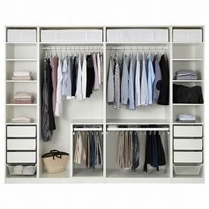 Begehbarer Kleiderschrank Ikea Pax : pax wardrobe white 300 x 58 x 236 cm ikea ~ Orissabook.com Haus und Dekorationen