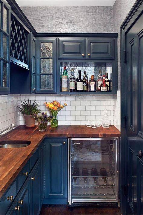 blue stained kitchen cabinets decoraci 243 n de cocinas peque 241 as muebles 500 im 225 genes 4839