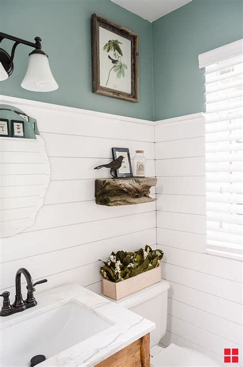 White Shiplap Bathroom by Brighten And Protect Shiplap With Zinsser Perma White