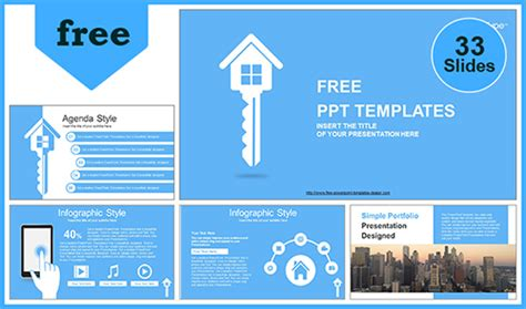 real estate house key powerpoint template