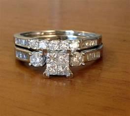 engagement rings ebay 10k white gold princess cut diamonds engagement bridal set wedding rings ebay
