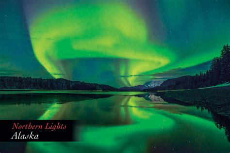 northern lights in alaska northern lights alaska postcard pc161mark kelley