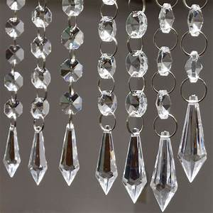 6 Strands 20quot Acrylic Crystal Garland Chandelier Hanging