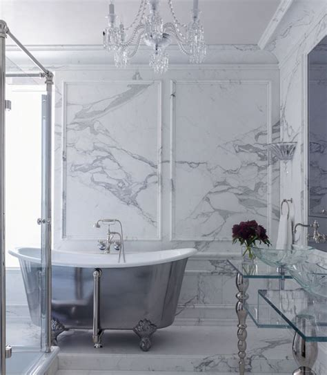marble wall moldings contemporary bathroom kendall