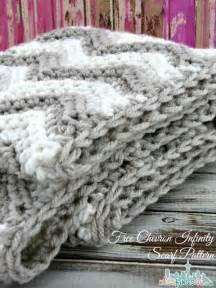 Chevron Infinity Scarf Crochet Pattern Free