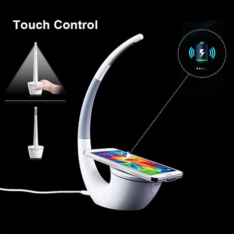led l wireless charger wireless charger qi charging pad desk l led light for