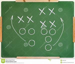 Football Play Diagram Stock Photo  Image Of Learn  Symbols