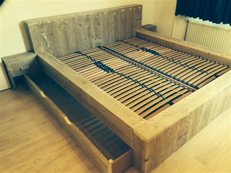 2 persoons bed 2 persoons bed steigerhout