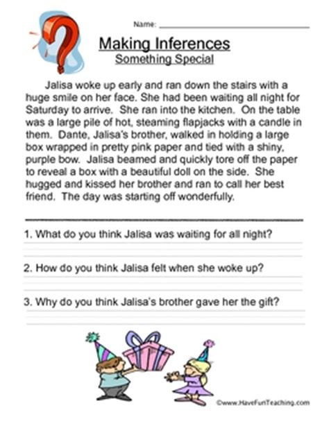 inference worksheets by teaching teachers pay