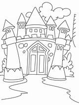 Coloring Castle Fairy Tale Pages Popular sketch template