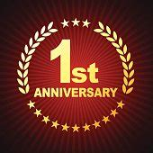 st anniversary card vector graphics