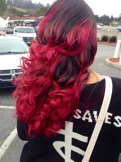 dark brown red curls hair colors ideas