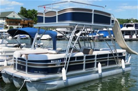 4 Person Pontoon Boat by Boating Club Kent S Harbor Inc