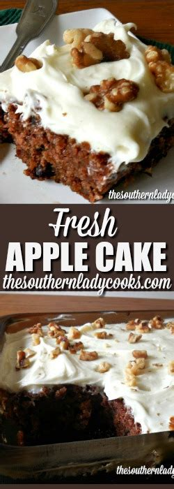 fresh apple cake cream cheese frosting  southern