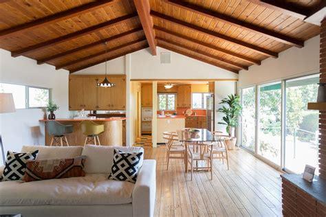 Mid Century Modern Wood Floor  Homes Floor Plans